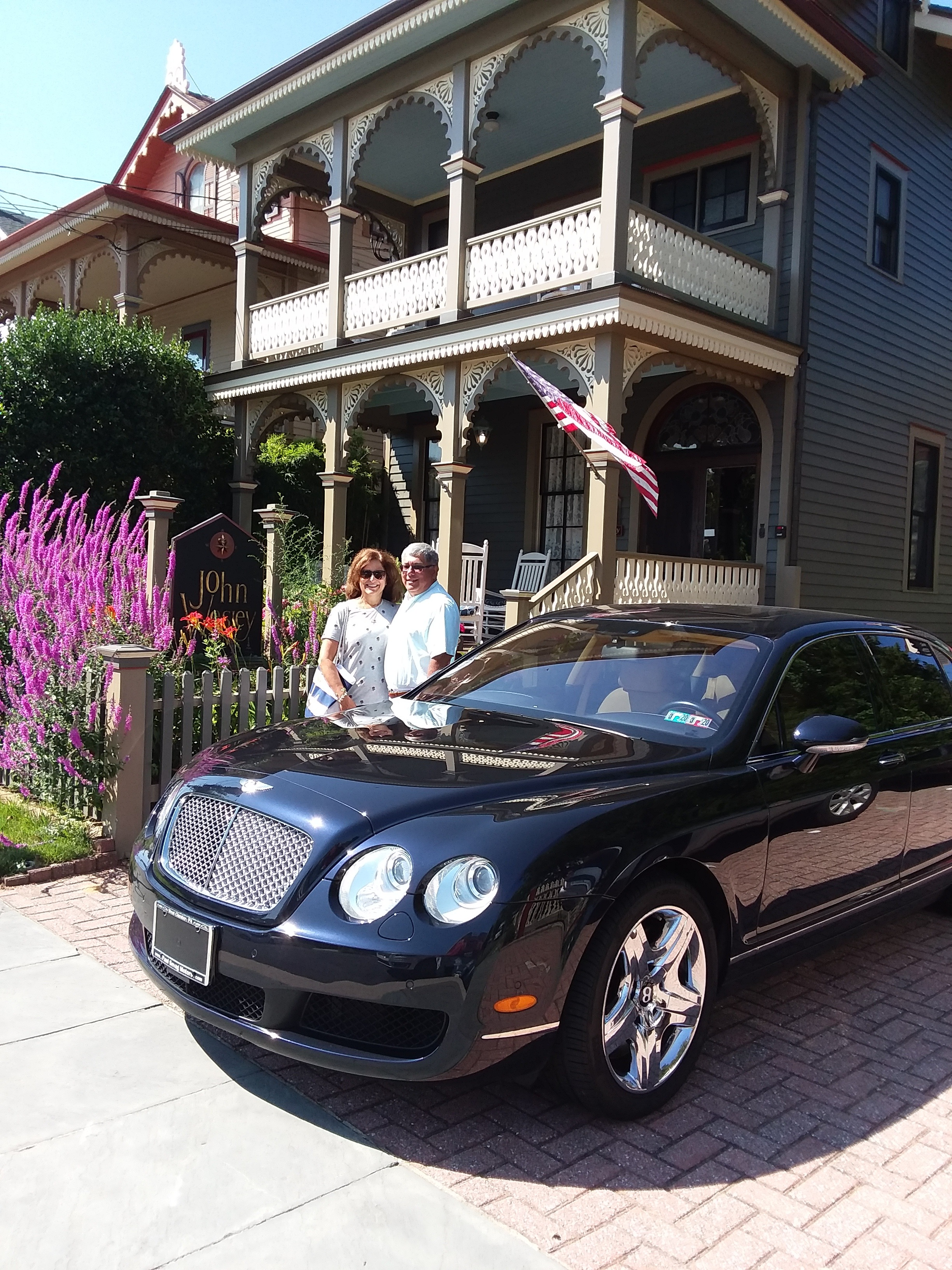 Rich and Rita, Flying Spur Bentley
